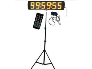 GOODRELISH Yellow Color Portable 5 Inch LED Race Timing Clock for Running Events LED Countdown/up Timer