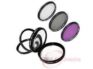 52mm Lens Fiter Kit UV,FLD,CPL + 4 Pc Macro Close up for SLR Digital cameras
