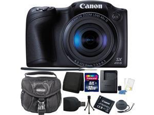 Canon PowerShot SX410 IS Digital Camera (Black) + 32GB Memory Card + Card Wallet + Card Reader + Camera Case + Cleaning Kit + Mini Tripod