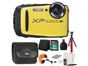 Fujifilm FinePix XP90 16 MP Waterproof Digital Camera  (Yellow) + 8GB Memory Card + Wallet + Reader + Camera Case + Floating Strap + Flexible Tripod + 5pc Cleaning Kit