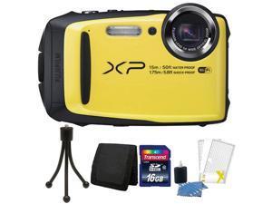 Fujifilm FinePix XP90 16MP Waterproof Digital Camera with 16GB Top Accessory Kit