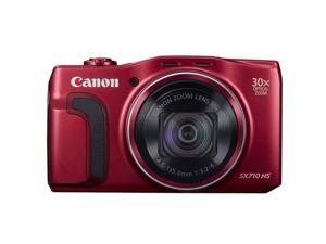 Canon PowerShot SX710 20.3MP 30x Optical Zoom Digital Camera - Red