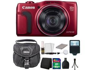 Canon PowerShot SX710 HS 20.3 MP Digital Camera Red 8GB + Accessory Kit