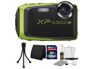 Fujifilm FinePix XP90 16.4MP Waterproof Digital Camera LIME + 32GB Accessory Kit LIME