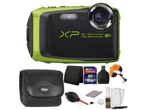 Fujifilm FinePix XP90 16.4MP Waterproof Digital Camera + 16GB Accessory Kit LIME