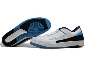 Nike Air Jordan II 2 Retro Low White/University Blue-Midnight Navy-Infrared UNC North Carolina Men's 832819-107