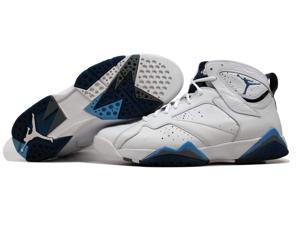 Nike Air Jordan VII 7 Retro White/French Blue-University Blue-Flint Grey French Blue Men's 304775-107