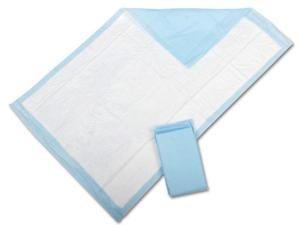"Protection Plus Disposable Underpads, Blue - Heavy, Fluff, 36"" X 23"" - 150 Each / Case (5 Each / Inner Pack)"