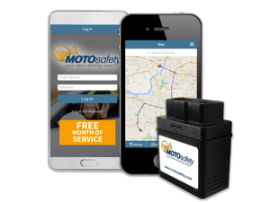 MOTOsafety Teen GPS Tracking OBD Device & Driving Coach with Free Month of 3G GPS Service