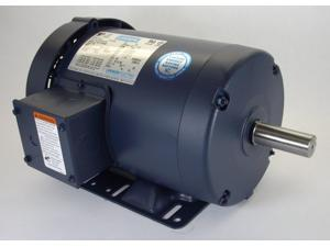 3/4 hp 1140 RPM 143T Frame 208-230/460 Volts TEFC Leeson Electric Motor # 121009