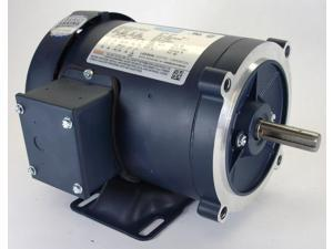 3/4 hp 3450 RPM 56C Frame TEFC C-Face (Rigid Base) 208-230/460V Leeson Electric Motor # 110915