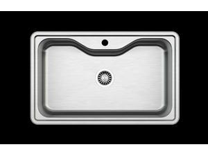 Apron Handmade 33-Inch Stainless Steel Single Basin Kitchen Sink