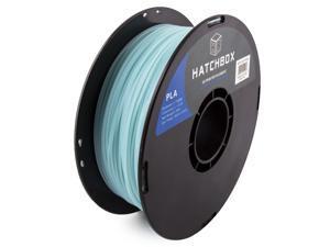 HATCHBOX 3D PLA-1KG1.75-G-BLU PLA 3D Printer Filament, Dimensional Accuracy +/- 0.05 mm, 1 kg Spool, 1.75 mm, Glow in the Dark Blue