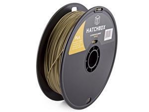 HATCHBOX 3D PLA-1KG1.75-BRNZ PLA 3D Printer Filament, Dimensional Accuracy +/- 0.05 mm, 1 kg Spool, 1.75 mm, Bronze