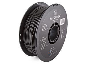HATCHBOX 3D PLA-1KG3.00-BLK PLA 3D Printer Filament, Dimensional Accuracy +/- 0.05 mm, 1 kg Spool, 3.00 mm, Black