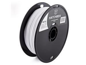 HATCHBOX 3D PETG-1KG1.75-WHT PETG 3D Printer Filament, Dimensional Accuracy +/- 0.05 mm, 1 kg Spool, 1.75 mm, White