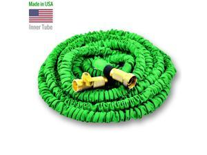 World's Strongest Expandable Garden Hose with MADE IN USA inner tube material, FREE Shut Off Valve (75 ft, Green)