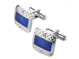 Stainless Steel Royal Blue Cufflinks
