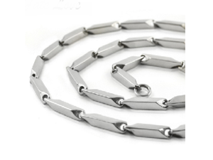 "Men's 24"" Stainless Steel Sectional Chain"