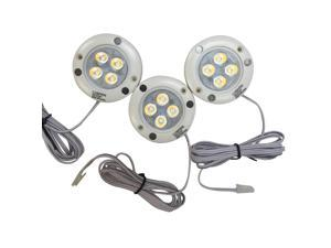 Lumien LED Under Cabinet Lighting Kit - 3 Puck Lights, 3000 K, Total of 12 Watt and 900 Lumens, All Accessories Included, Pack of 3
