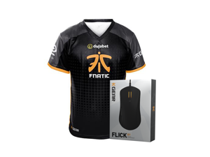 FLICK Mouse with Fnatic Mens Player Jersey