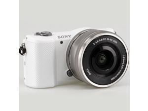 Sony Alpha A5000 20.1MP Mirrorless Digital Camera with 16-50mm Lens White