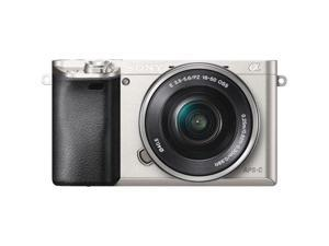 "SONY Alpha a6000 ILCE-6000L/S 24.3MP 3.0"" 921.6K LCD Mirrorless Interchangeable-lens Camera w/ 16-50mm lens *Silver"