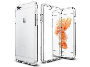 Cesapay® iPhone 6S Case  [Clear Cushion] Premium Clear Case Hard Back Panel + TPU Bumper for Apple iPhone 6 (2014) / iPhone 6s (2015) - Shock Absorbing + Scratch Resistant Frame Cover Case - Clear