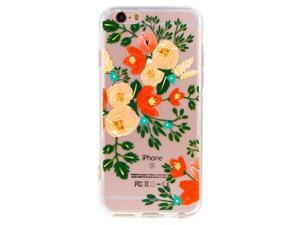 Cesapay® iPhone 6 PLUS  Clear Case, Slim Floral TPU PC Clear Back Cover Case for Apple iPhone 6 PLUS 5.5 inch