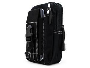 Cesapay® Tactical Pouch - Compact Molle EDC Utility Gadget Gear Tools  Organizer, Multipurpose Smartphone Pocket Premium1000D Nylon Pouch Belted Waist Bag (BLACK)