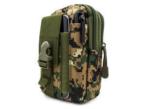 Cesapay® Tactical Pouch - Compact Molle EDC Utility Gadget Gear Tools  Organizer, Multipurpose Smartphone Pocket Premium1000D Nylon Pouch Belted Waist Bag (JUNGLE DIGITAL)