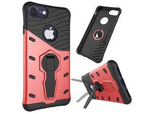 Cesapay Shock Absorbent Sheild Dual Layer Armor Hybrid Hard PC Defender Rugged Protective Case for Cell Phone Kick-Stand Shell