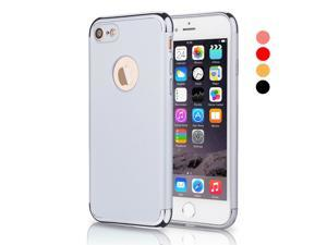 iPhone 7 Case, CESAPAY® 3 In 1 Ultra Thin and Slim Hard Case Coated Non Slip Matte Surface with Electroplate Frame for Apple iPhone 7 (4.7'')(2016) -- Silver