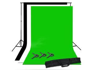 Photo Studio Screen Black White Green Background Chroma Key Backdrop Stand Kit
