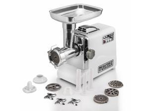 STX INTERNATIONAL STX-3000-MF Megaforce Patented Air Cooled Electric Meat Grinder with 3 Cutting Blades, 3 Grinding Plates, Kubbe and 3 Sausage Stuffing Tubes …