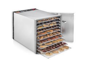 STX International, Model STX-DEH-600W-SST, Dehydra Stainless Steel 10 Tray Food and Jerky Dehydrator with 40 Hour Timer, 600 Watts of Drying Power, - Model STX-DEH-600W-SST