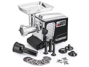 All New Patented Model STX-4000-TB2-PD Turboforce II - Quad Air Cooled - Black Electric Meat Grinder & Sausage Stuffer - Featuring Foot Pedal Control