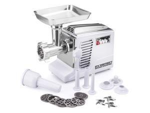 All New Patented Model STX-4000-TB2-PD-W Turboforce II - Quad Air Cooled - White Electric Meat Grinder & Sausage Stuffer - Featuring Foot Pedal Control