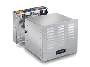 "STX International, Dehydra 1200 Watt Stainless Steel 10 Tray Food Dehydrator, 165° F ""Jerky Safe"" with 15-Hour Timer and 100% Stainless Steel Drying Racks - Model STX-DEH-1200W-XLS"