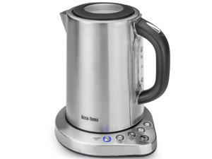 STX Accu-Temp Model STX-AT-EKSS Brushed Stainless Steel 1.8 Liter (7.6 cups), 1500 Watt, Cordless Electric Kettle Featuring 6 Precise Preset Temperatures and UL Certified Strix Technology