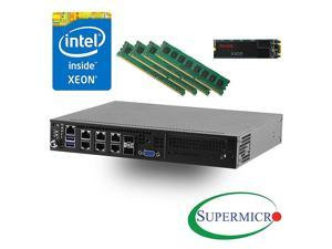 Supermicro SYS-E300-8D Intel Xeon D-1518, Dual 10GB LAN Server w/ 32GB RDIMM, 256GB M.2 SSD - Configured and Assembled by MITXPC