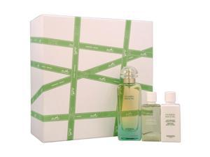 Un Jardin Sur Le Nil by Hermes for Women - 3 Pc Gift Set 3.3oz EDT Spray, 1.35oz Perfumed Body Lotion, 1.35oz Perfumed Bath and Shower Gel