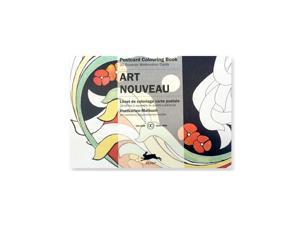 Pepin Postcard Coloring Book, Art Nouveau