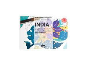 Pepin Postcard Coloring Book, India