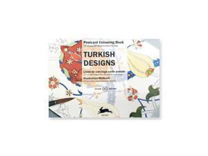 Pepin Postcard Coloring Book, Turkish Designs