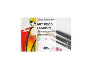 Pepin Postcard Coloring Book, Art Deco Fashion