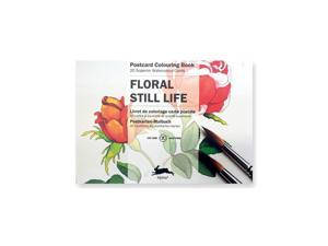 Pepin Postcard Coloring Book, Floral Still Life