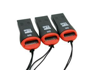 3 x USB 2.0 Micro SD Card Adapter Reader Writer SDHC MMC Micro Sd 2528c