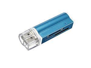 USB 2.0 Micro SD SDHC MMC External Memory Card Reader celeste
