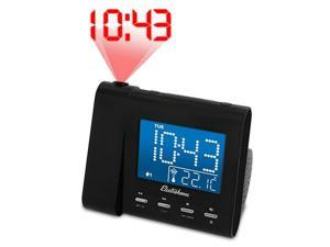 Electrohome Projection Alarm Clock with AM/FM Radio, Battery Backup, Auto Time Set, Dual Alarm & 3.5mm Audio Input